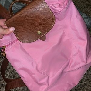 Longchamp Le Pliage Backpack in Pinky!